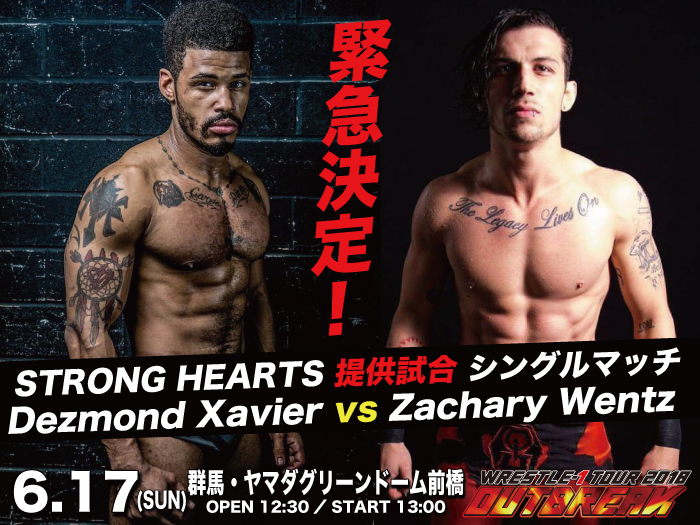 「STRONG HEARTS 提供試合」カード発表!6.17群馬・ヤマダグリーンドーム前橋大会情報